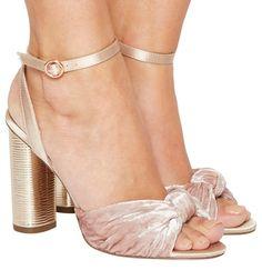 Office, Natural Cylindrical Heel Sandals, Pink Velvet