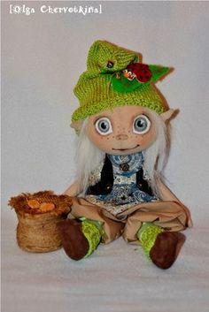 Handmade doll by Olga Chervotkina частье нараспашку: авторская текстильная кукла