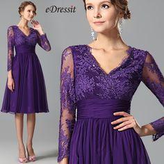 eDressit lila Spitze kurze Kleid SKU: 26152206