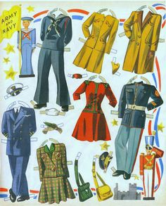 Soldiers and Sailors House Party Paper Dolls, 1943 Merrill #3481 (5 of 9) | Bobe Green | Picasa Webalbum
