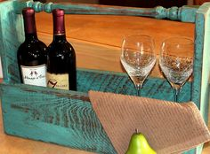 Salvage 2 X4's and deck spindal to make this wine caddy. Beyond The Picket Fence