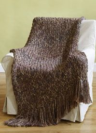 Knit 6-Hour Afghan:  I've made quite a few of these for gifts