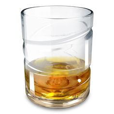 The Spinning Helix Whiskey Aerating Glass - Hammacher Schlemmer