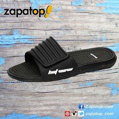 En esta #primavera #verano luce unas #chanclas super comodas de color negro con velcro. Ref: 11185 a €9,95 en zapatop.com #zapatillas #calzadohombre #zapatillasbaratas #zapatillasdecasa #zapatillasonline #zapatillasparatodos #zapatillashombre #chancla #zapatillasoferta #zapatos #madeinspain #hechoenespaña #zapatop #chanclashombre Color Negra, Pool Slides, Sandals, Instagram Posts, Shoes, Fashion, Zapatos, Summer Time, Flip Flops