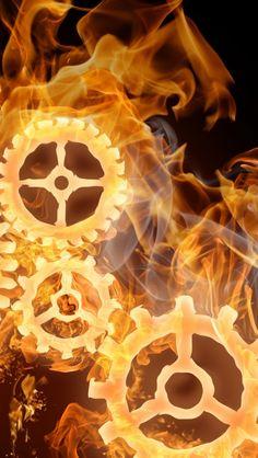 Wheels On Fire iPhone 5s wallpaper