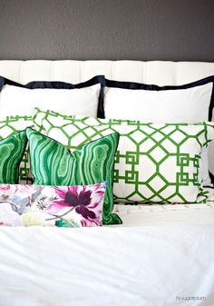 Malachite Pillows Mixed In