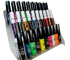 nail polish organizer | ... Rack (Nail Art Brush Style) Combo Set + 6 Sets of Scented Nail Polish