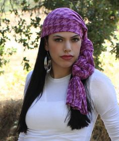 #Turban #Chemo #Head_Wrap #Alopecia scarf by TurbanDiva, $49.95 Pink Houndstooth