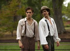 "vampire diaries damon 1864 | Stefan and Damon in Vampire Diaries Season 1, Episode 6: ""Lost Girls"""