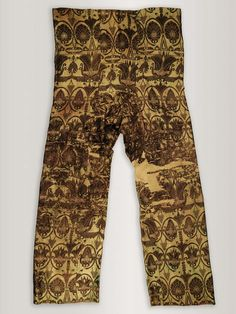 Sogdian Silk Lampas Trousers, Central Asia, 7th - 8th Century