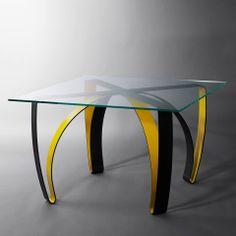 table design en verre et pieds bois tree domitalia®   arbres ... - Createur De Meuble Design