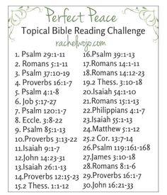Perfect Peace Bible Reading Plan