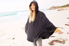 Rusty autumn 15 collection #ourkind olive cooke: pinch cape Surf Gear, Surf Outfit, Surf Shop, Beachwear, Cape, Surfing, Autumn, How To Wear, Clothes