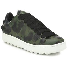 2c2e8549f77e COACH Camouflage Leather Sneakers   COACH Shoes (880 SAR) ❤ liked on  Polyvore featuring