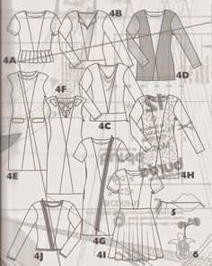 Line Drawings Burda Style Easy Fall 2014