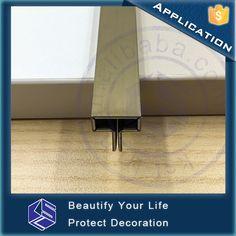 Hairline Brass T shape stainless steel tile trim floor transition strip