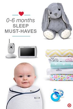 Naptime or bedtime, either way there are products that help everyone sleep a little better. Starting with the Baby Registry must-haves: crib sheets (a few for when a diaper disaster strikes!), receiving blankets or swaddle blankets, a pacifier, and a soothing white noise machine to help your little one relax. Night-night, sleep tight.