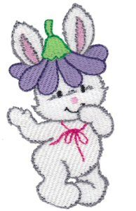 Bunnies 10 single machine embroidery design for instant download.