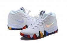 51382b7d5e93 2018 Nike Kyrie 4 NCAA March Madness White Multi-Color Sneakers-2 Buy  Basketball