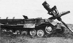 Tiger I No. 007 of Micheal Wittmann Command destroyed- frontal view.