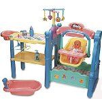 Girls Pretend Play Doll Nursery Center Baby Set - Cradle, Swing Bath + More:Amazon:Toys & Games