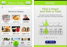 Treater is an Android app that helps youtreat friends to coffee, beer and more.
