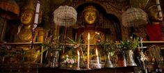 Burmese Buddhist temple shrine, Myanmar (Burma).