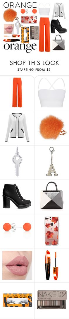 """Orange"" by officialajaxxx ❤ liked on Polyvore featuring beauty, Diane Von Furstenberg, Theory, Furla, Rembrandt Charms, H&M, Fendi, Bling Jewelry, Casetify and L'Oréal Paris"