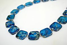 Blue Necklace  Imperial Jasper with Smoky Gray by MeiFaithStudio, $94.00