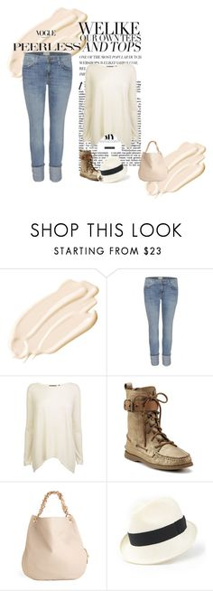 """""""street style: sienna miller"""" by sunshinediva ❤ liked on Polyvore featuring Stila, Current/Elliott, Vince, Sperry, Heather Huey and fedora hats"""