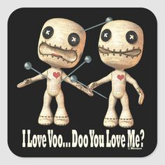 Shop VooDoo Dolls Square Sticker created by Ricaso_Designs. Voodoo Doll Tattoo, Doll Patterns Free, Scary Art, Halloween Doll, Doll Painting, Creepy Dolls, Animal Skulls, Cute Characters, Making Ideas