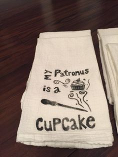 "Hand-Stamped Patronus Kitchen Tea Towel — $10 | 21 Perfect Kitchen Gifts For The ""Harry Potter"" Fan In Your Life"