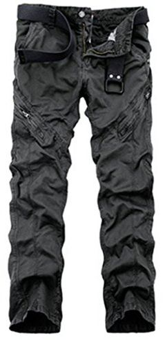 MR. R Men's Durable Regular Fit Multiple Pockets Cargo Pants Dark Grey 32 Tag *** Be sure to check out this awesome product affiliate link Amazon.com