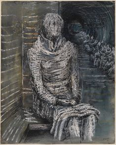 Henry Moore - Woman sitting in underground