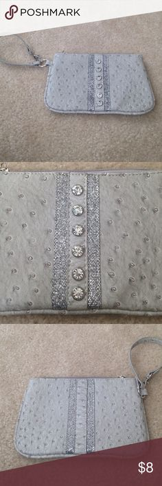 Wristlet Silver with jewels wristlets Bags Clutches & Wristlets
