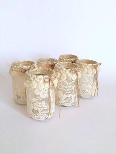 Wedding Centerpiece Mason Jar Light Mason Jar by GamesOfLight