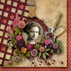Like an old fashioned jewellery box, Pot Pourri is a beautiful collection of vintage trinkets. #thestudio #digitalscrapbooking