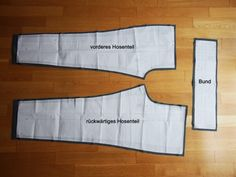 Sewing instructions: So you sew a simple pants with elastic waistband - Fabric Crafts İdea - Mode Sewing Projects For Beginners, Sewing Tutorials, Sewing Tips, Sewing Patterns Free, Free Sewing, Hand Sewing, Sewing Pants, Sewing Techniques, Fabric Scraps