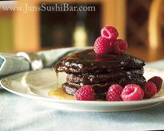Chocolate-Raspberry Pancakes