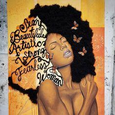 Black Love Art, Black Girl Art, Beautiful Black Women, Black Girl Magic, Art Girl, Pink Black, Black Art Painting, Black Artwork, Natural Hair Art