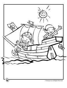 Pirate ship coloring pages pirate kids coloring page fantasy jr