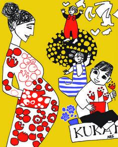 Mothers' help - illustration wall art by Merri Kids Room, About Me Blog, Illustration, Wallet, Prints, Gift Ideas, Art, Women, Art Background