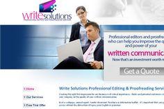 Write Solutions- Creative Website Design Sample