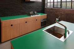 Oregon Pine Kitchen by CPH square, designed by the Lindholdt brothers
