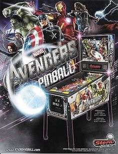 Stern-Pinball-Poster-Flyer-Ghostbusters-Family-Guy-Walking-Dead-Avengers-Indiana