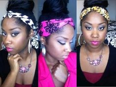 DIY Make your own headband with a scarf or a strip of fabric! Support me and Like my facebook page! https://www.facebook.com/BreonnaQueen.beauty Instagram: h...