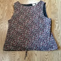Cute Paisley Tank with Tie at Bottom Tie at bottom Merona Tops Tank Tops