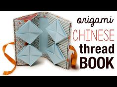 Origami Chinese Thread Book Tutorial ♥︎ DIY ♥︎ - YouTube