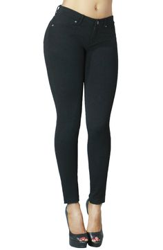 Classic Fashion Skinny Jean Collection for Women in Solid Colors at Amazon Women's Clothing store: