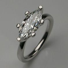 marquise diamond ring..set sideways. cool!